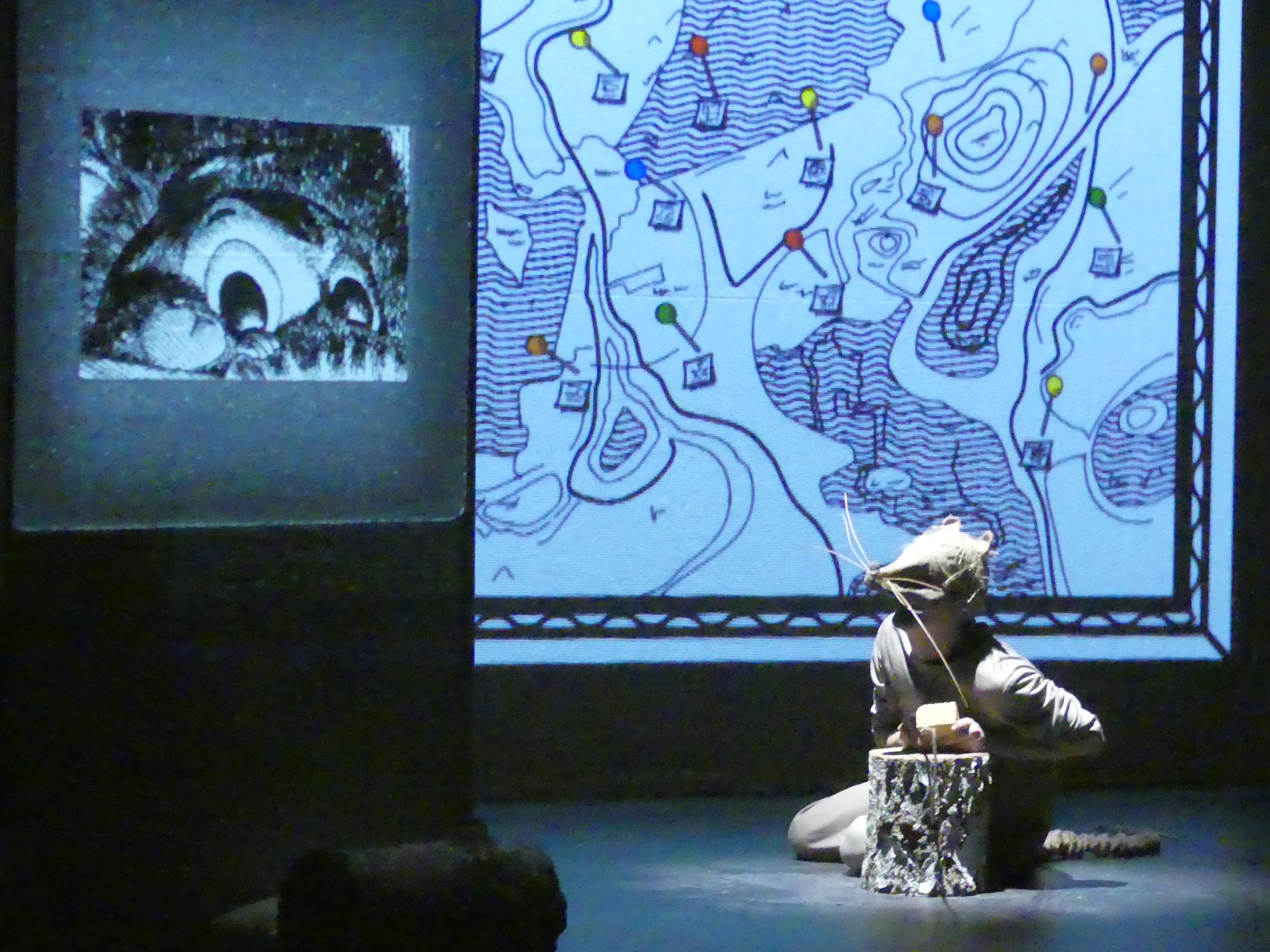 Rat et les animaux Moches, visuel du spectacle