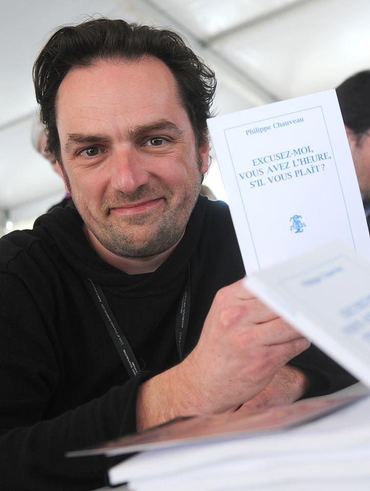 Phillippe Chauveau, auteur de la pièce Excusez-moi, vous avez l'heure s'il vous plaît ?