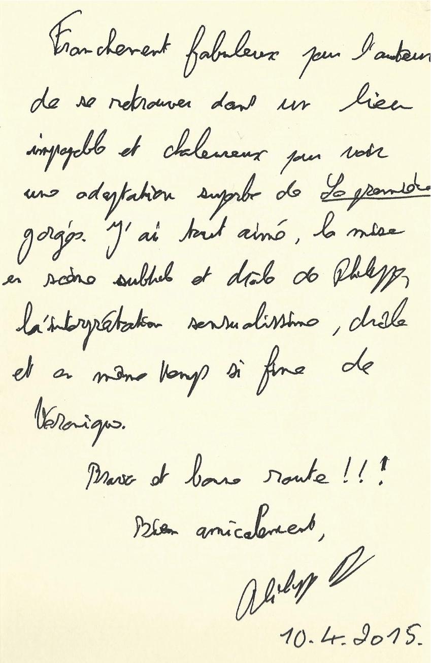 """Dédicace de Philippe Delerm pour le spectacle de """"La petite gorgée..."""", une lecture théâtralisée"""