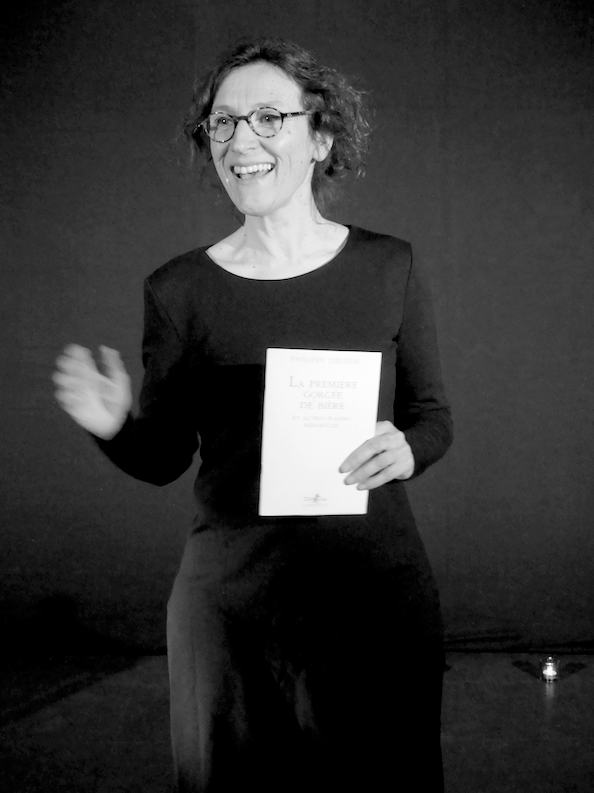 Bénédicte Humeau, comédienne et interprète de la petite gorgée, texte de P.Delerm