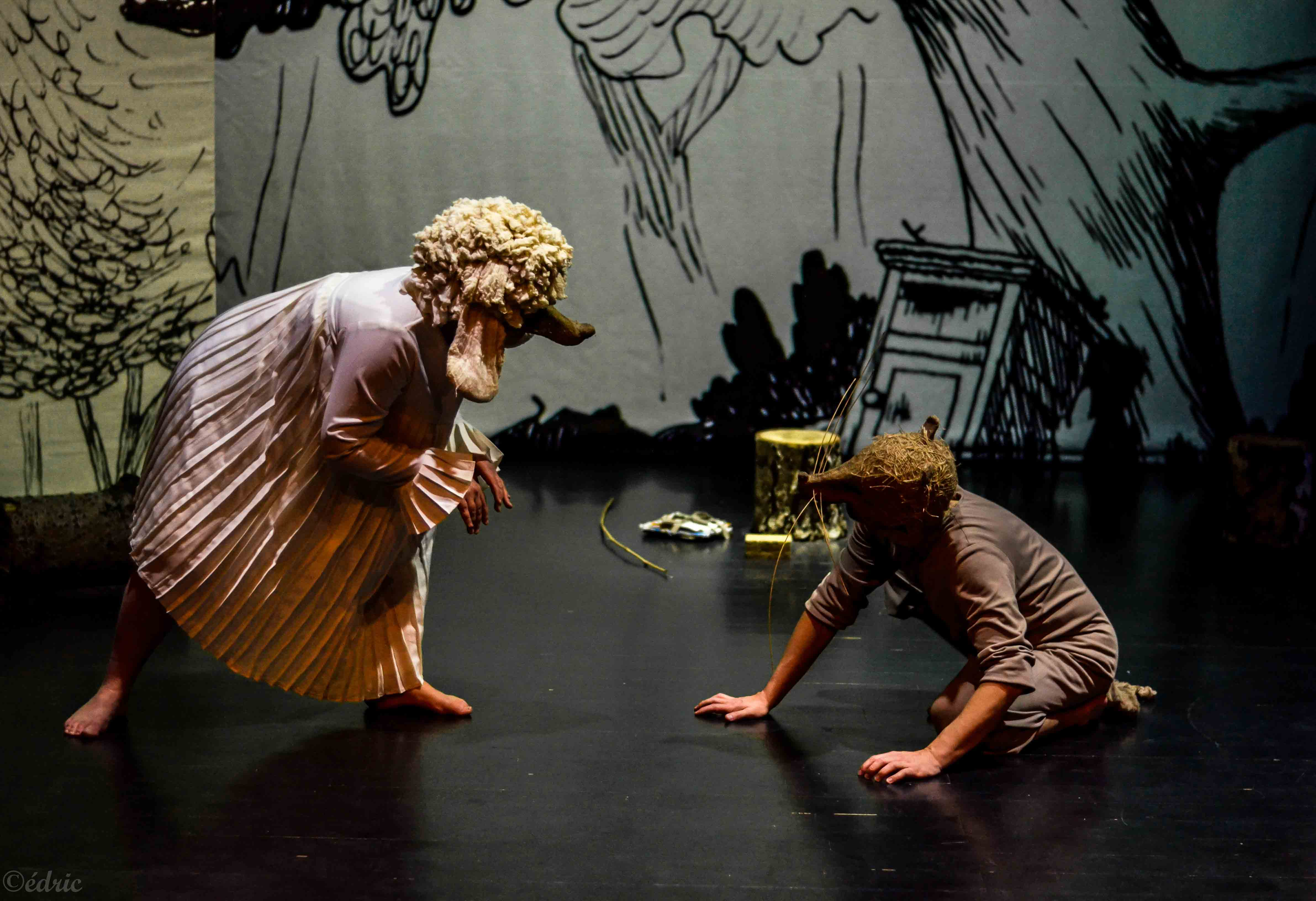 Rat et Perdu dans le spectacle Rat et les animaux moches