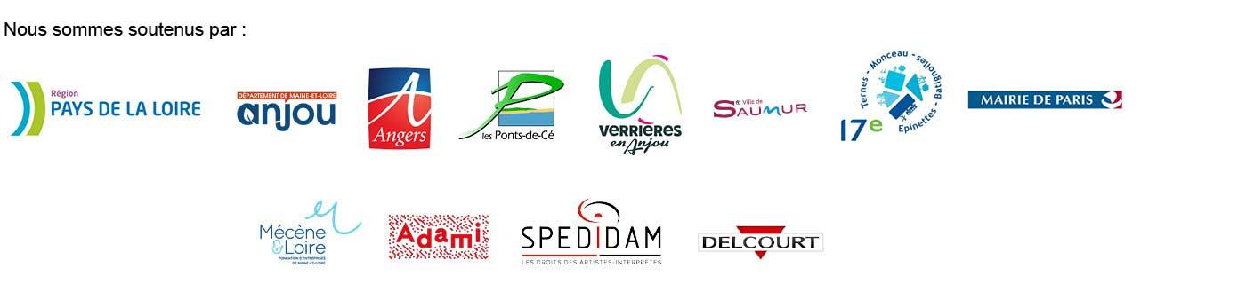 La cie Zig Zag Création est soutenus par la région Pays de la Loire, département du Maine-et-Loire, la ville d'Angers, les Ponts de cés, Verrières-en-Anjou, la ville de Saumur, la mairie de Paris, Mécènes et Loire, Adami, Spedidam, éditions delcourt